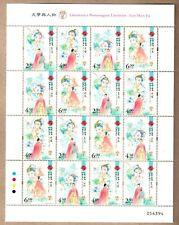 China Macau 2020 Literature and its Characters – Luo Shen Fu Full Sheet 洛神賦