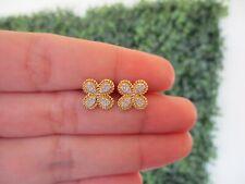 .16 Carat Diamond Twotone Gold Earrings 18k E144 sep
