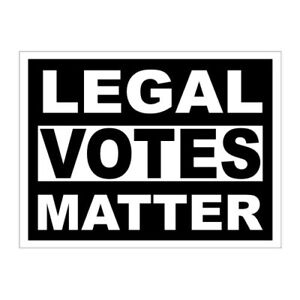 Legal Votes Matter Sticker / Decal Made in USA