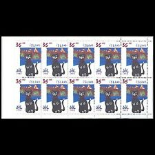 Iceland, Sc #867a, MNH, 1998, Booklet, Cats, Topical stamps, CA276F