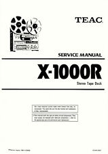 TEAC X-1000R TAPE DECK SERVICE MANUAL 53 Pages