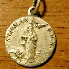 Antique Catholic Medal of St Ghislain