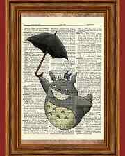 My Neighbor Totoro Dictionary Art Print Poster Picture Anime Movie Umbrella