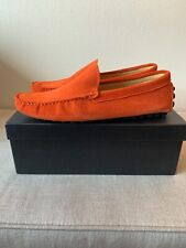 Boxd Loafers Drivers Orange Suede Mens 10 43