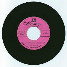 RARE R & B 45 THE CASHMERES MY SENTIMENTAL HEART ON MERCURY STRONG VG ORIGINAL