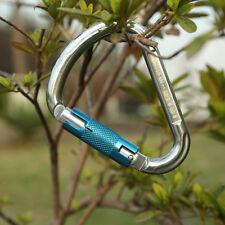 22KN Twist Gate/ Self Locking Carabiner Mountaineering Rock Climbing Rescue Gear