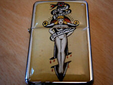 DEATH BEFORE DISHONOR STAR LIGHTER & EXTRA ZIPPO FLINTS SWORD SEXY GIRL NAKED