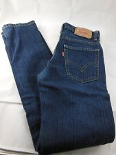 Levis 510 Kids Super Skinny Jeans Size 12 Regular 26 x 26.5 Blue Cotton Blend