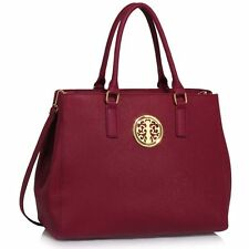 Women's Large Designer Faux Leather Celebrity Shoulder Bags Tote Handbags