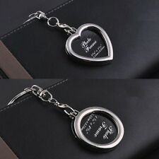 Schlüsselanhänger mit Foto Metall Medaillon Geschenk