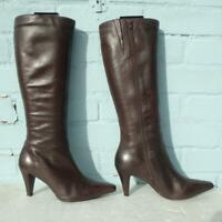 JONES the BOOTMAKER Leather Boots Size Uk 5 Eur 38 Ladies Womens Brown Boots