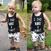 2pcs Toddler Kids Baby Boy T-shirt Tops+Pants Shorts Summer Outfits Clothing Set