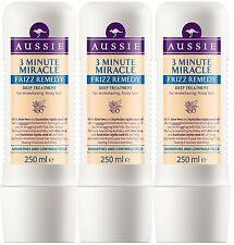 3 x 250ml Aussie 3 Minute Miracle Frizz Remedy Deep Treatment for Frizzy Hair