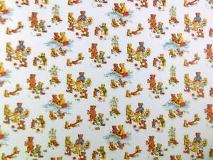 Melody Jane Dolls House Miniature Print Nursery Wallpaper Teddy Bears Picnic