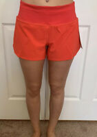 "Lululemon Size 4 Speed Up MR Short 4 "" Lined Red CRNR Tracker Mid Rise Run"
