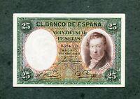 BILLETE 25 PESETAS 1931 EBC +
