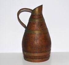 Ancien pichet a cidre - broc normand en bois tonnelier – 27 cm de hauteur