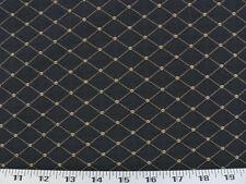 Drapery Upholstery Fabric Jacquard Diamond Design w/Small Dots - Dark Navy Blue