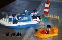 Lego Duplo Polizei Boot 4861 Ville Schiff Polizist Gefangener Leuchtturm Boat