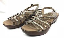 Dansko Metallic Leather Strappy Slingback Wedge Sandals Size 42 US 11.5-12 EUC