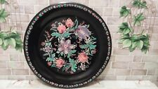 Vintage USSR Hand Painted Toleware Breaded Tray dish author's work Pihulya