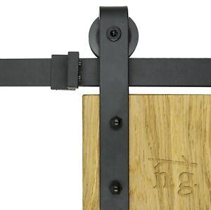 SCHIEBETÜRSYSTEM Modell J   SCHWARZ  2m  Barn Door Hardware Beschlag Scheunentor