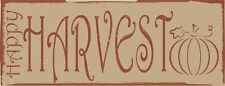 Happy Harvest with Pumpkin Fall/Autumn Metal Sign