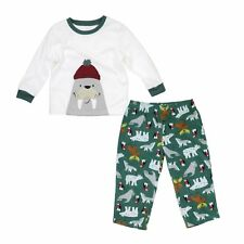 Carter's 2 Piece Long Sleeve Fleece Pajamas for Boys -  Fox and Seal Themes