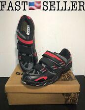Gavin Men's VELO Road Bike Cycling Shoe, Black/Red, US 11.5/EU 45 - NEW! FAST!