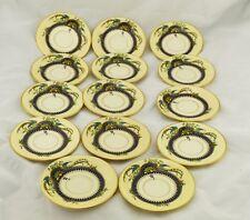 "14pc. Vintage Lenox Demi Plates Demi Cups Florida Gold Rim China Set 4 3/4"""