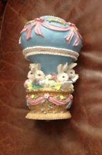Vintage Bunny Rabbit Carousel Music Box