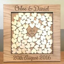 PERSONALISED WOODEN DROP BOX WEDDING GUEST BOOK (MEDIUM SQUARE FRAME)