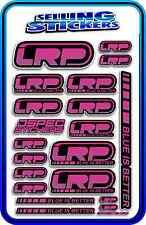 LRP ELECTRIC ESC MOTOR BATTERY LIPO STICKER DECALS RC CAR DRIFT PINK PURPLE B AE