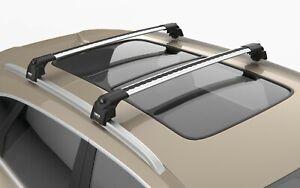 Turtle Silver Air V2 Roof Rail Racks Cross Bar for VW Golf 7 Alltrack 2013-2020
