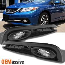Fit 2013-2014 Civic 4 Drs Sedan Bumper Driving Fog Lights w/Switch+Bulb L+R