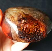 TOP 120G Natural Polished Banded Agate Crystal Madagascar  YO390