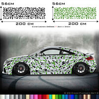 Auto Seitenaufkleber Camouflage Aufkleber Camo Sticker Style Set 2 Farbig S20