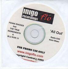 (EB734) Fenna Rhodes ft The True Ingredients & Blu Rum 13, All Out - 2005 DJ CD