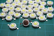 XMAS DIY 50PCS 1W 350mA Pure white High Power LED Lamp Bead Bulb Chip 90~100LM