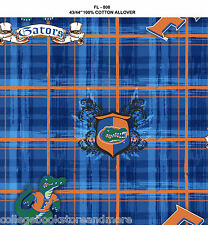 UNIVERSITY OF FLORIDA COTTON FABRIC- FLORIDA GATORS COTTON FABRIC- fl800