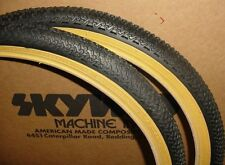 20 x1.75 Black BMX Freestyle gumwall tires pair
