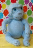 PRINTED INSTRUCTIONS-MARVIN BLUE MONKEY NURSERY TOY ANIMAL KNITTING PATTERN