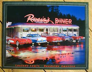 Rosie's Diner 5 CLASSIC CAR TIN SIGN Lewis metal wall decor vtg garage 50's 1128