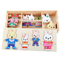 Wooden Toys Hand Educational Baby Colors Change Cloth Children Puzzle Block Gift