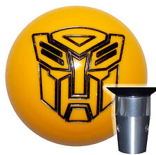 Transformers Autobot Yellow Bumble Bee Non Threaded Shift Knob Kit U.S. Made