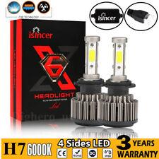 2x H7 CREE 1100W 11000LM 4 Sides LED Headlight Bulbs High Beam Kit White HID KM