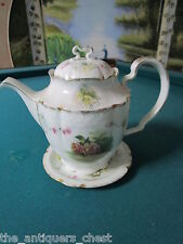 "Rosenthal Bavaria ""Carmen"" pattern,teapot on a saucer, flowers and gold[100]"