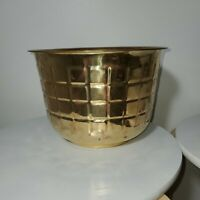 Vintage Large Brass Metalware Tin Dish Planter Urn Pot Plant Holder