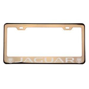 Laser Engraved New Jaguar Car Rose Gold License Plate Frame T304 Stainless Steel