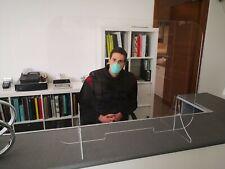 Parafiato in Plexiglass Trasparente 78x60  Protezione Parasputo con passa fogli.